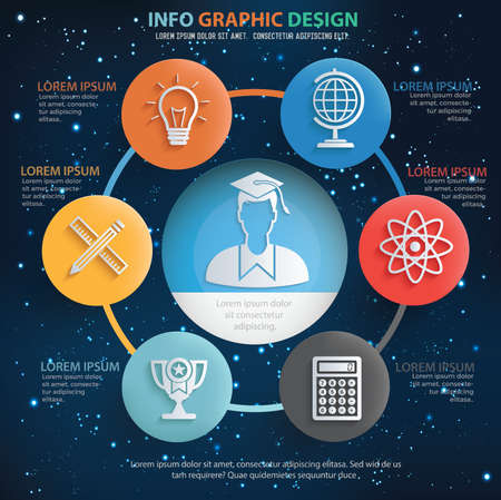 Education infographics vector design