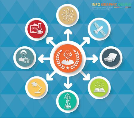 Science infographics icon vector design