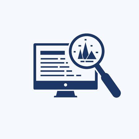 Data analysis and economy vector icon  design 向量圖像