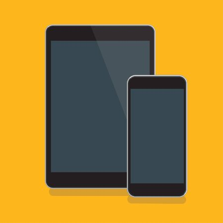 Tablet pc and mobile phone vector icon design