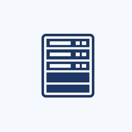 Database vector icon design Stok Fotoğraf - 131668830