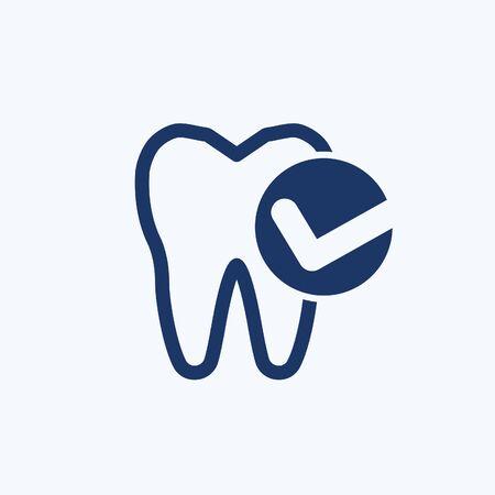 Checking Teeth vector icon design 向量圖像