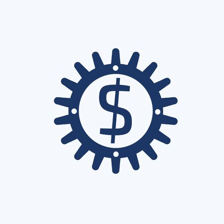 Dollar cog vector icon design Stok Fotoğraf - 131669512