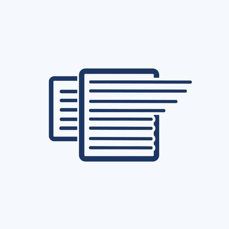 Document and paper vector icon design Çizim