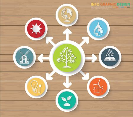 Ecology and nature infographics icon design Standard-Bild - 132841713