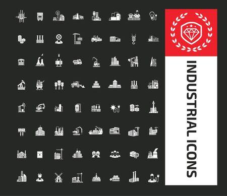 Industrial and factory icon set vector design Ilustración de vector