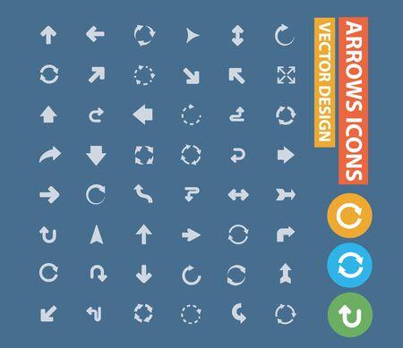 Arrow vector icon set design Stok Fotoğraf - 131669555