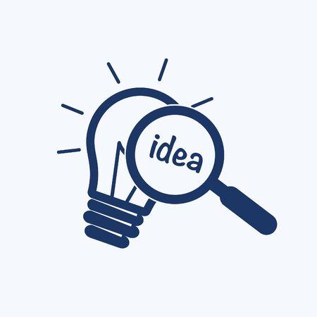 Light bulb and idea vector icon design