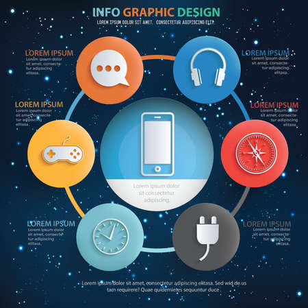 Communication vector infographics design