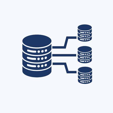 Database vector icon design 向量圖像