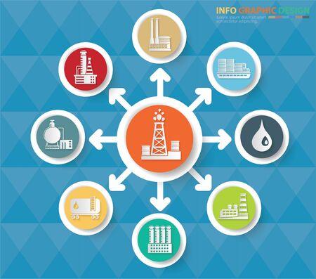 Gas Energy industry infographics icon set design Standard-Bild - 133620912
