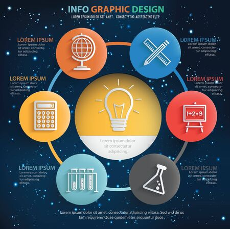 Education infographics vector icon design