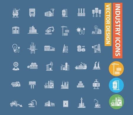 Industrial and energy vector icon design Çizim