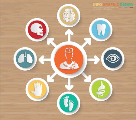 Medical and health care icon infographics design