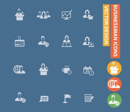 Businessman vector icon set design Stok Fotoğraf - 132093533