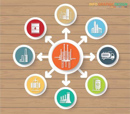 Gas energy industrial vector icon set design