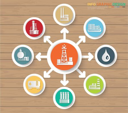 Construction and industrial infographic vector icon design