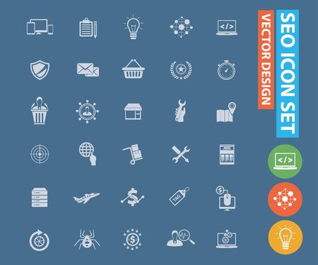 SEO, Search Engine Optimisation vector icon design