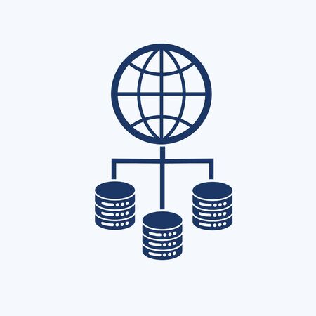 Database and network vector icon design Stok Fotoğraf - 131670388