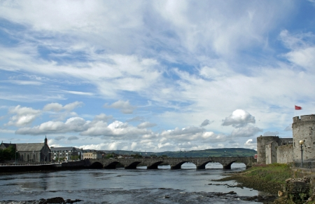 Shannon River bridge at Limerick, Ireland Editorial