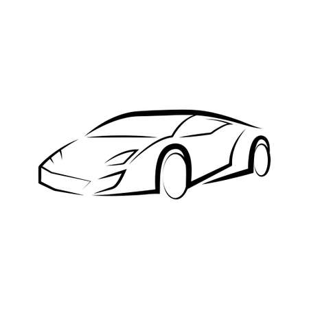 sport car silhouette vector. isolated on white Background.