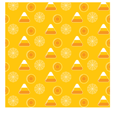 fruit background: Pattern Halloween Elements