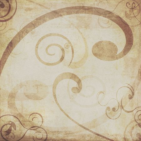 Brown swirl abstract grunge background