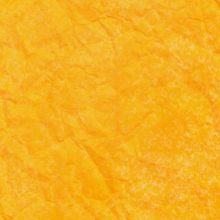 Yellow crinkled paper abstract background