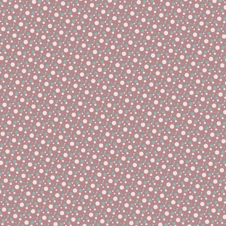 Retro dots pink, blue and cream background Фото со стока