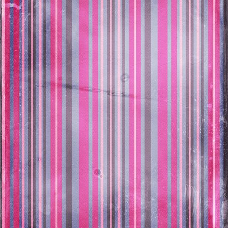 Grunge shabby striped background in blue and pink