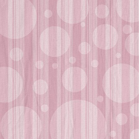 Pink striped shabby background with bubble circles.