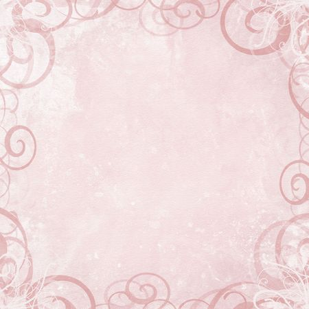Framed abstract pink shabby background with swirls Фото со стока