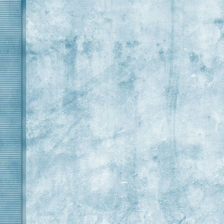 Frosted blue grunge background with left side border