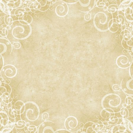 Natural distressed shabby swirl framed background Stock Photo
