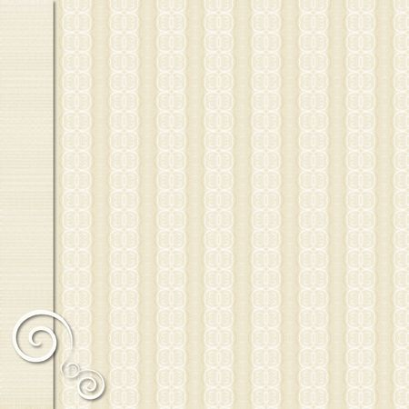 Tan and cream patterned background with border and accent