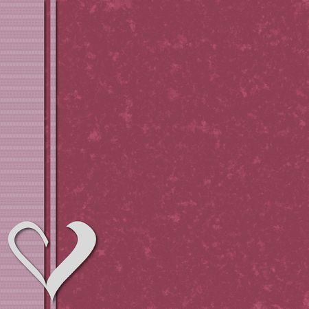 Pink scrapbook layered background with heart element