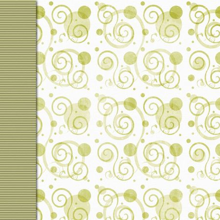 olive green: Retro olive green swirl background with border Stock Photo