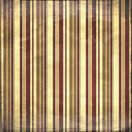 Old shabby vertical stripes background in maroon and tan
