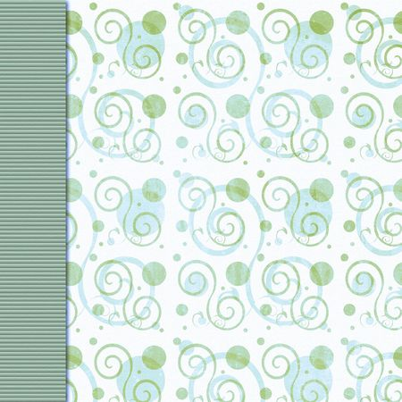 Olive green and blue vintage swirl background Фото со стока