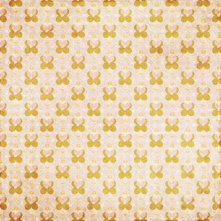 Orange peach patterned retro grunge background Фото со стока