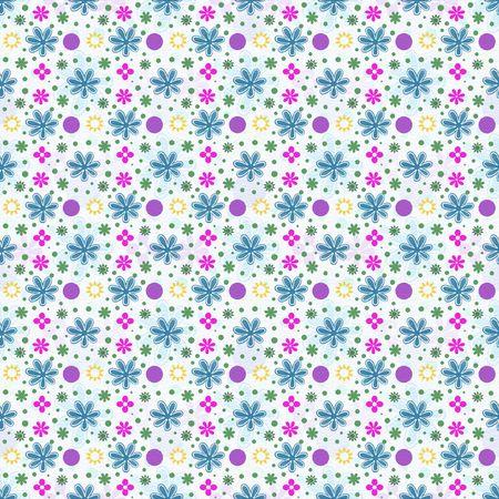 Retro multi color floral background Фото со стока