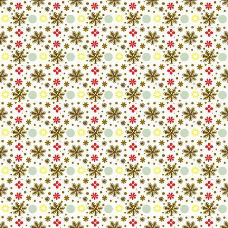 Retro floral pattern background Фото со стока