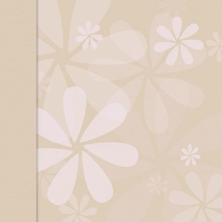 dropshadow: Tan beige flower background with border Stock Photo