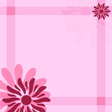 Vibrant pink background with stripes and flowers