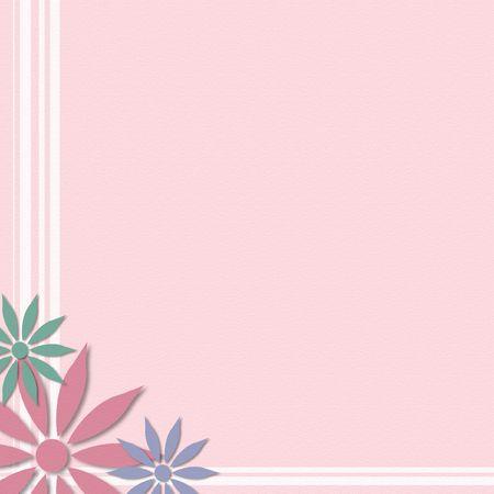 Pink background with flower corner edge