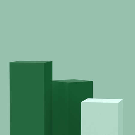 3d Olive green cylinder podium minimal studio background. Abstract 3d geometric shape object illustration render. Display for cosmetic fashion and food natural product.