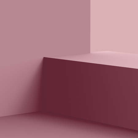 3d violet mauve stage podium scene minimal studio background. Abstract 3d geometric shape object illustration render. Display for cosmetic fashion product. Natural monochrome color tones.