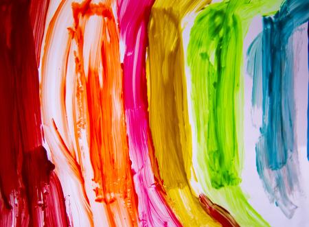 lumen: Paint strokes on the glossy surface on the lumen