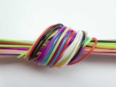 tangling: bright braided cords in a knot