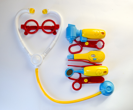doctor toys: Plastic toys , doctor set stethoscope, forceps, goggles, scissors